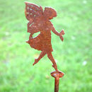 Duck, Rabbit Or Fairy Metal Garden Silhouette