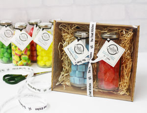 Two Bottle Sugar Free Sweet Hamper - sweet hampers