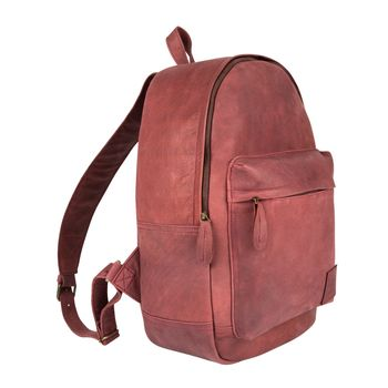 Personalised Maroon Suede Classic Backpack/Rucksack