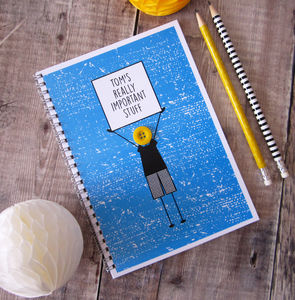 'Really Important Stuff' Personalised Boys Notebook