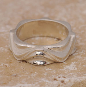 Silver Wave Design Ring - rings