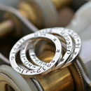 Trio Of Personalised Stacking Rings