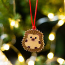 Hedgehog Christmas Tree Decoration