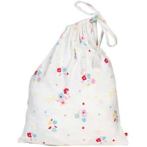 Fitted Cot Sheet In Bag Floral - cot bedding
