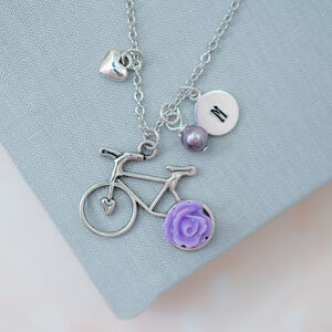 Personalised Bicycle Charm Necklace
