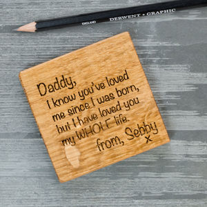 Personalised Letter To Parents And Grandparents Coaster