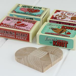 Love Matchbox Wedding Favour Puzzles - unusual favours