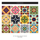 Talavera Tile Decal Sticker Set Pack Of 24
