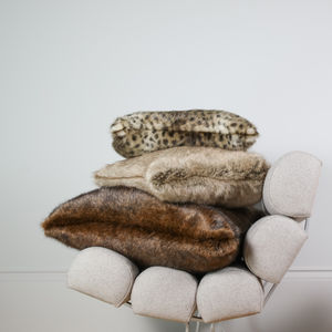 Luxuriously Soft Signature Faux Fur Cushion