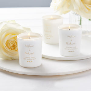 Personalised Glow Through Wedding Favour Votives