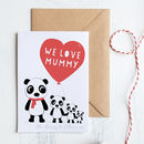 Personalised Mummy Mother's Day Card With Pandas