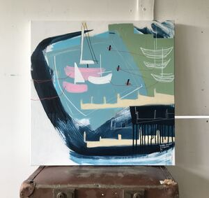 'Huddle Harbour' Original Painting On Canvas