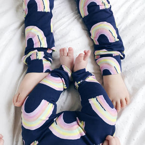 Blue Rainbow Baby And Children's Leggings - clothing