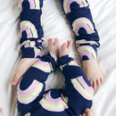 Blue Rainbow Baby And Children's Leggings