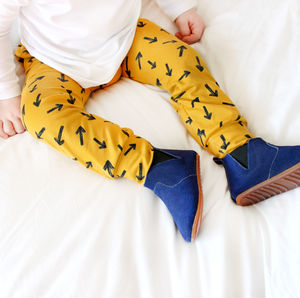 Navy Suede Baby And Toddler Boots