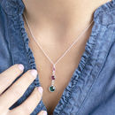 triple birthstone necklace