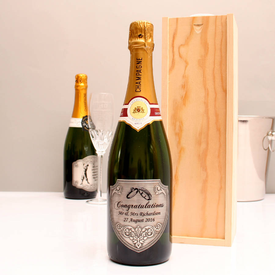 Personalised Congratulations Champagne