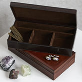 Leather Personalised Cufflink Box Free Personalisation - men's jewellery