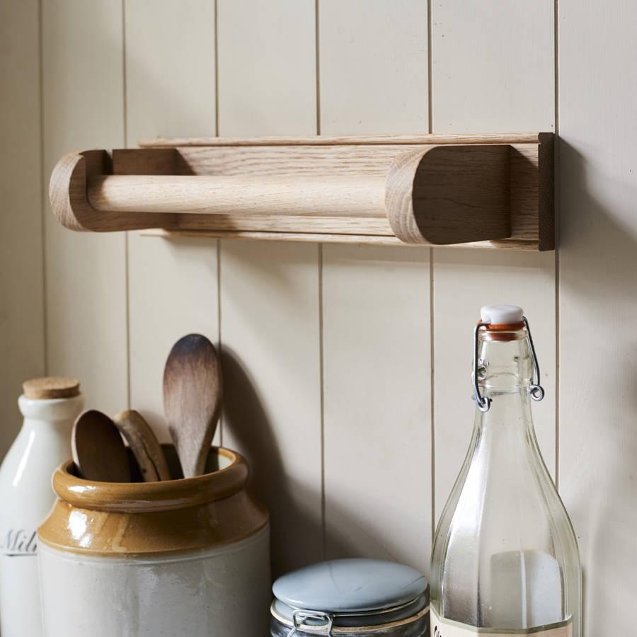 Oak Kitchen Towel Holder By Brush64
