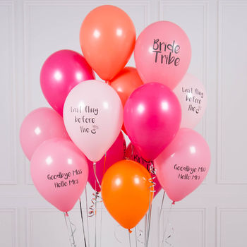 Pack Of 14 Hen Party Balloons
