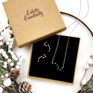 Constellation Necklace And Earrings Gift Set
