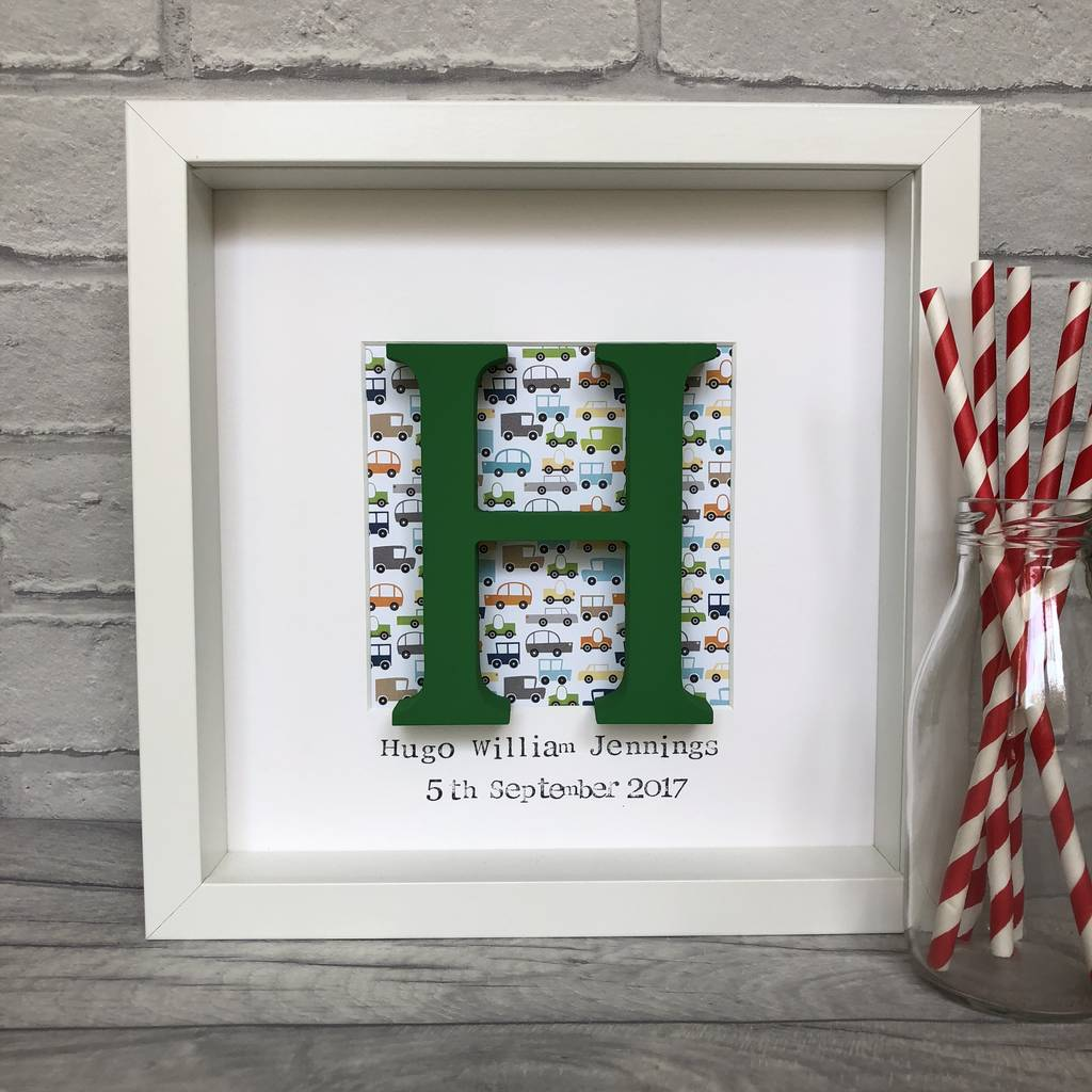 Personalised boys wooden letter box frame by alphabet bespoke personalised boys wooden letter box frame spiritdancerdesigns Images