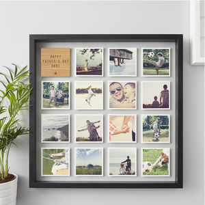 Personalised Framed Father's Day Photo Print - family & home