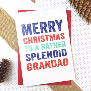 Merry Christmas Grandad Greetings Card