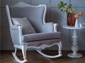 Belle Hand Carved Rocking Chair From Lilies And Lions - armchairs