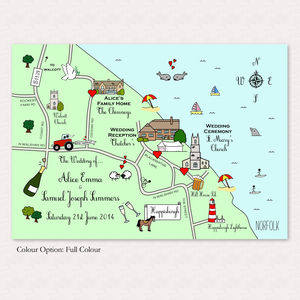 Print Your Own Illustrated Wedding Or Party Map - hen party gifts & styling