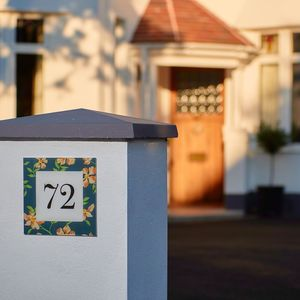 Personalised Wedding House Number Gift