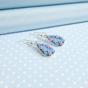 Forget Me Not Drop Earring - earrings