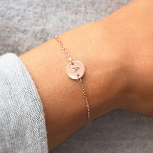 Personalised Letter Disc Bracelet - personalised jewellery