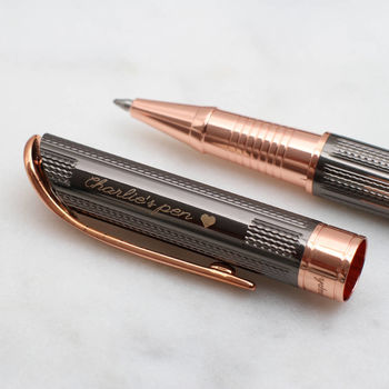 Personalised Rose Gold Roller Ball Pen