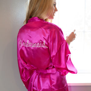 Bridal Personalised Robe Perfect For Your Hen Party