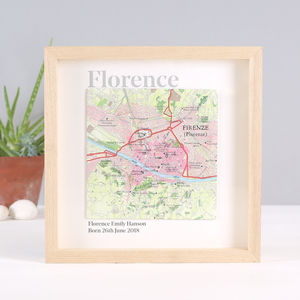 Personalised Map Location Namesake Print Gift