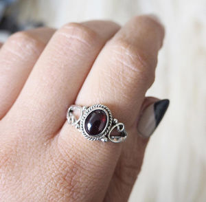 Vera Sterling Silver Birthstone Ring