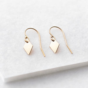 Tiny Diamond Drop Earrings - view all mother's day gifts