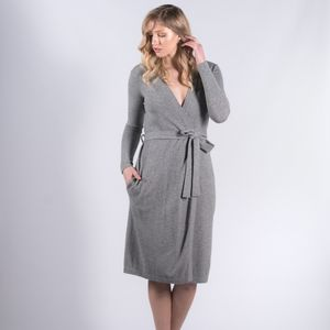 100% Pure Cashmere Robe Style Long Cardigan - new in fashion