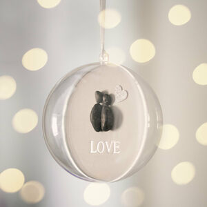 Personalised First Christmas Mr And Mrs Pebble Bauble