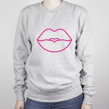 Neon Lips Kiss Sweatshirt