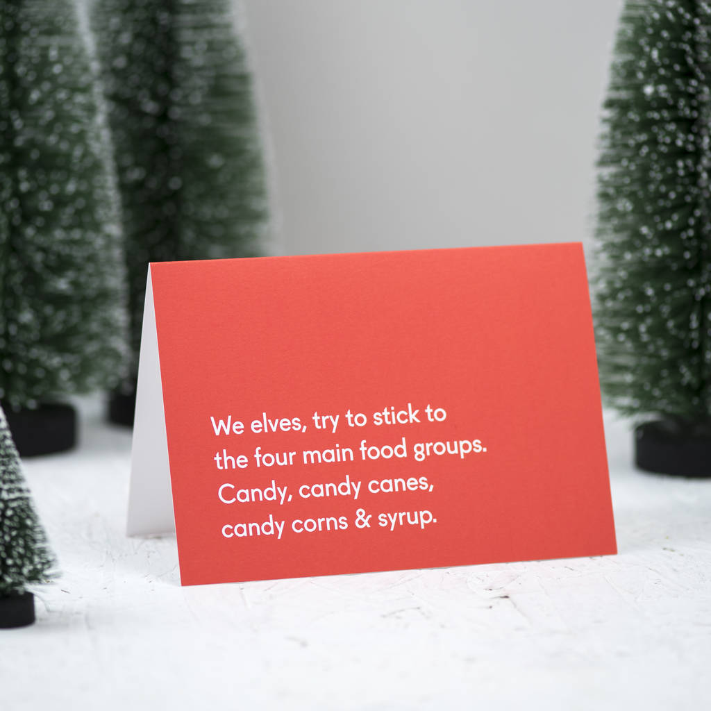 'Christmas Candy' Christmas Card