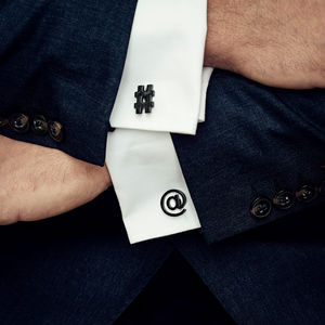 Stylish At And Hashtag Cufflinks