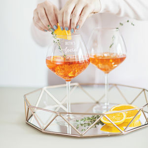 Personalised Aperol Spritz Glass - home