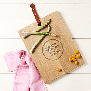 Personalised Monogram Chopping Board - gifts for fathers
