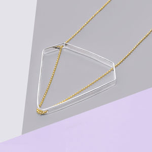 Diamond Gold And Silver Statement Long Chain Necklace - necklaces & pendants