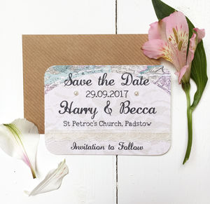 Travel Inspired Wedding Save The Date Card - invitations
