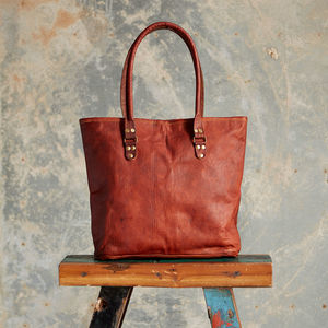 Large Leather Tote Bag - bags
