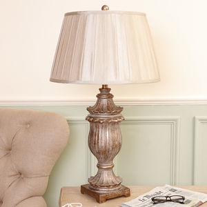 Antique Gold Edwardian Table Lamp - lighting