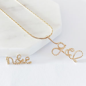 'You And Me' Initials Twisted 14k Gold Filled Necklace - necklaces & pendants